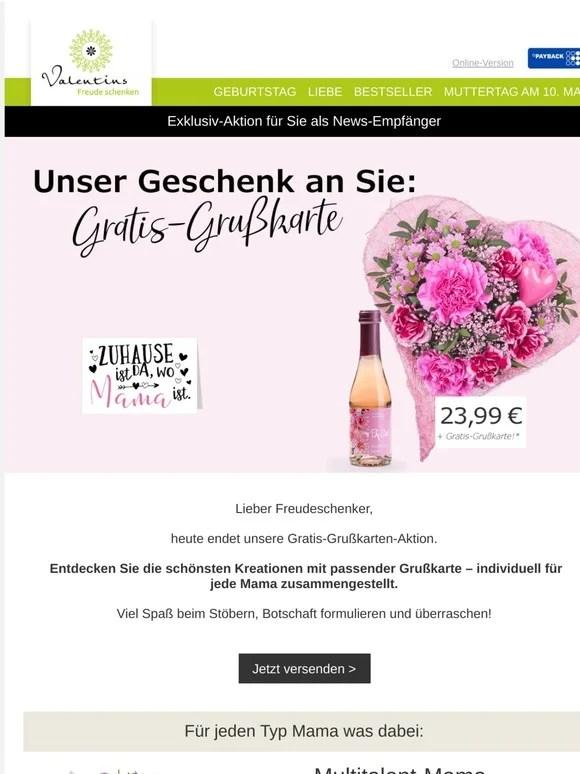 Valentins Blumen Und Geschenke Sonntagsgluck Nur Noch Heute
