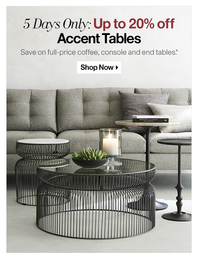 crate and barrel the accent table sale