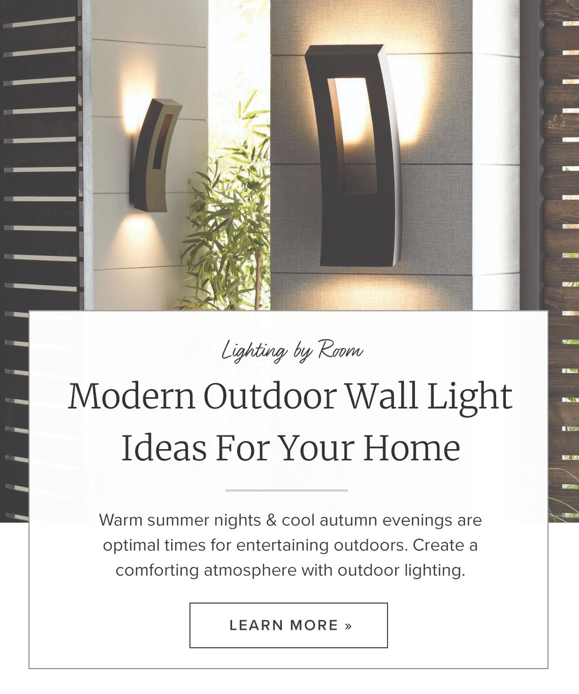 modern outdoor wall lighting ideas