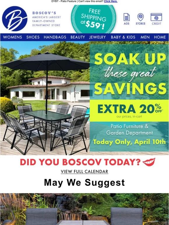 extra 20 off patio furniture