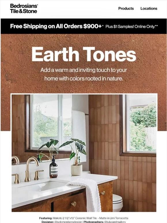 bedrosians tile stone earth toned