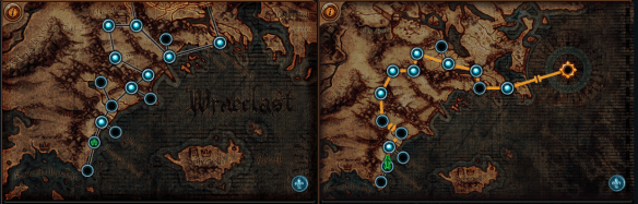 Act 1 vs Act 6 map   pathofexile Act 1 vs Act 6 map