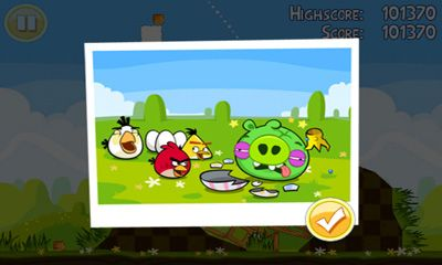 Screenshots of the Angry Birds. Seasons: Easter Eggs for Android tablet, phone.
