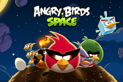 Screenshots of the Angry Birds Space for Android tablet, phone.
