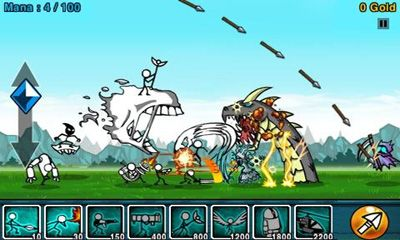 Screenshots of the Cartoon Wars for Android tablet, phone.