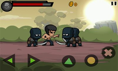 Screenshots of the KungFu Warrior for Android tablet, phone.
