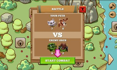 Screenshots of the Pets vs Orcs for Android tablet, phone.