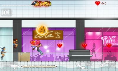 Screenshots of the Run Like Hell! Heartbreaker for Android tablet, phone.