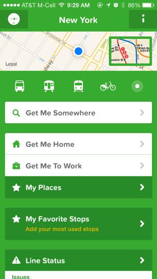 Citymapper iPhone maps screenshot