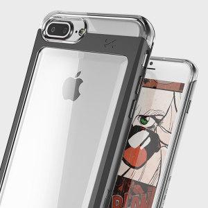 ghostek cloak iphone 7 plus aluminium tough case clear gold