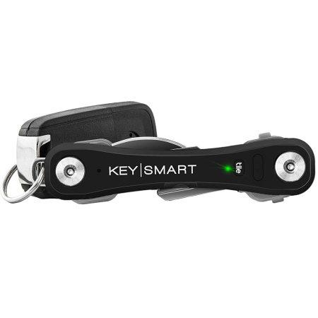 keysmart pro compact key holder with tile smart location