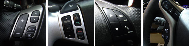 Unika is compatible with Vauxhall, BMW, Ford & Honda Steering Wheel controls