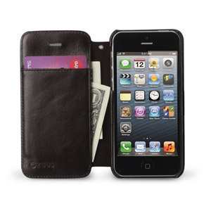Zenus Estime Diary Leather Case for iPhone 5 - Brown