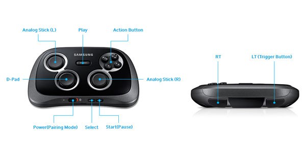 Official Samsung Wireless Game Pad for Galaxy Devices - Black