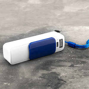 Playfect Slide 2200mAh Universal Power Bank - Blue / White