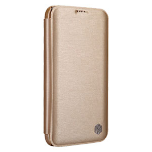 Nillkin Rain Samsung Galaxy S5 Leather-Style Wallet Case - Gold