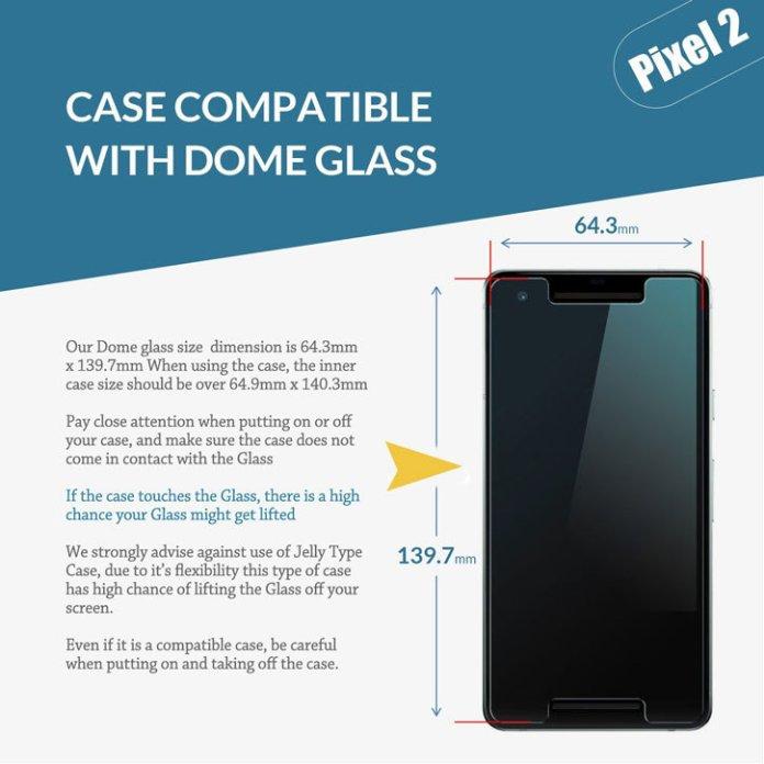 Whitestone Dome Glass Google Pixel 2 Full Cover Screen Protector