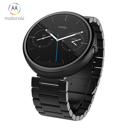 Motorola Moto 360 SmartWatch - Black Metal