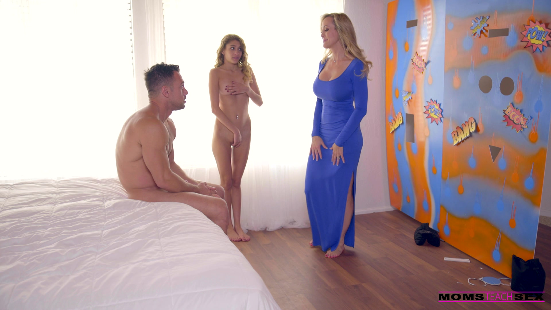 MomsTeachSex.com - Brandi Love,Rebel Lynn: While Mom Is Away - S4:E8