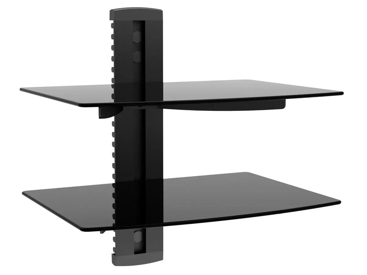 Monoprice 2 Shelf Wall Mount Bracket For TV Components