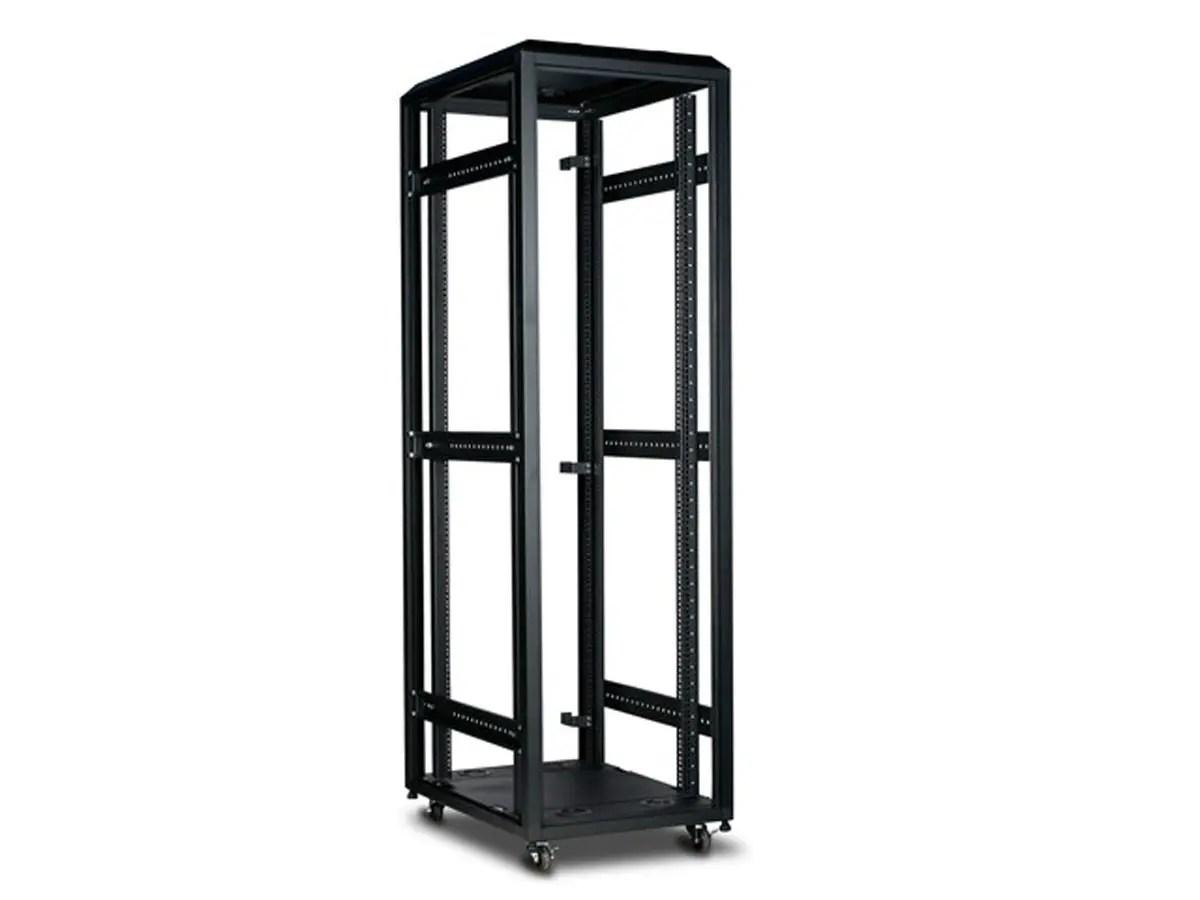 monoprice 42u 4 post open frame rack gsa approved