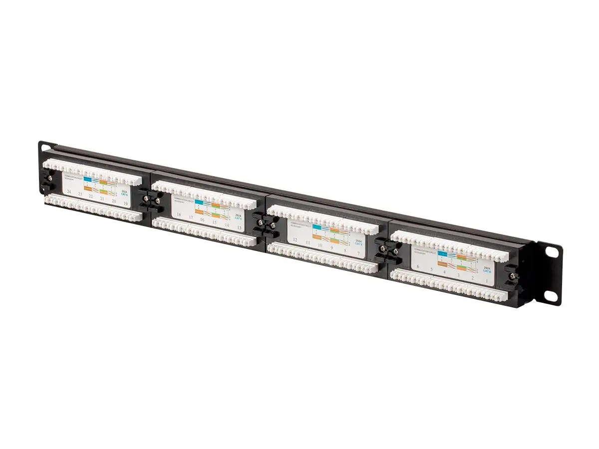 Monopricecat6 Utp 19 Inch 1u Patch Panel 24 Port