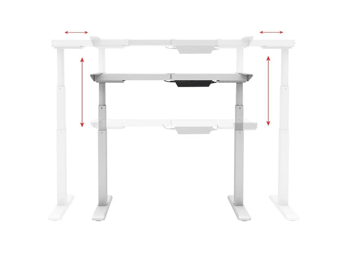 Workstream By Monoprice Sit Stand Dual Motor Height