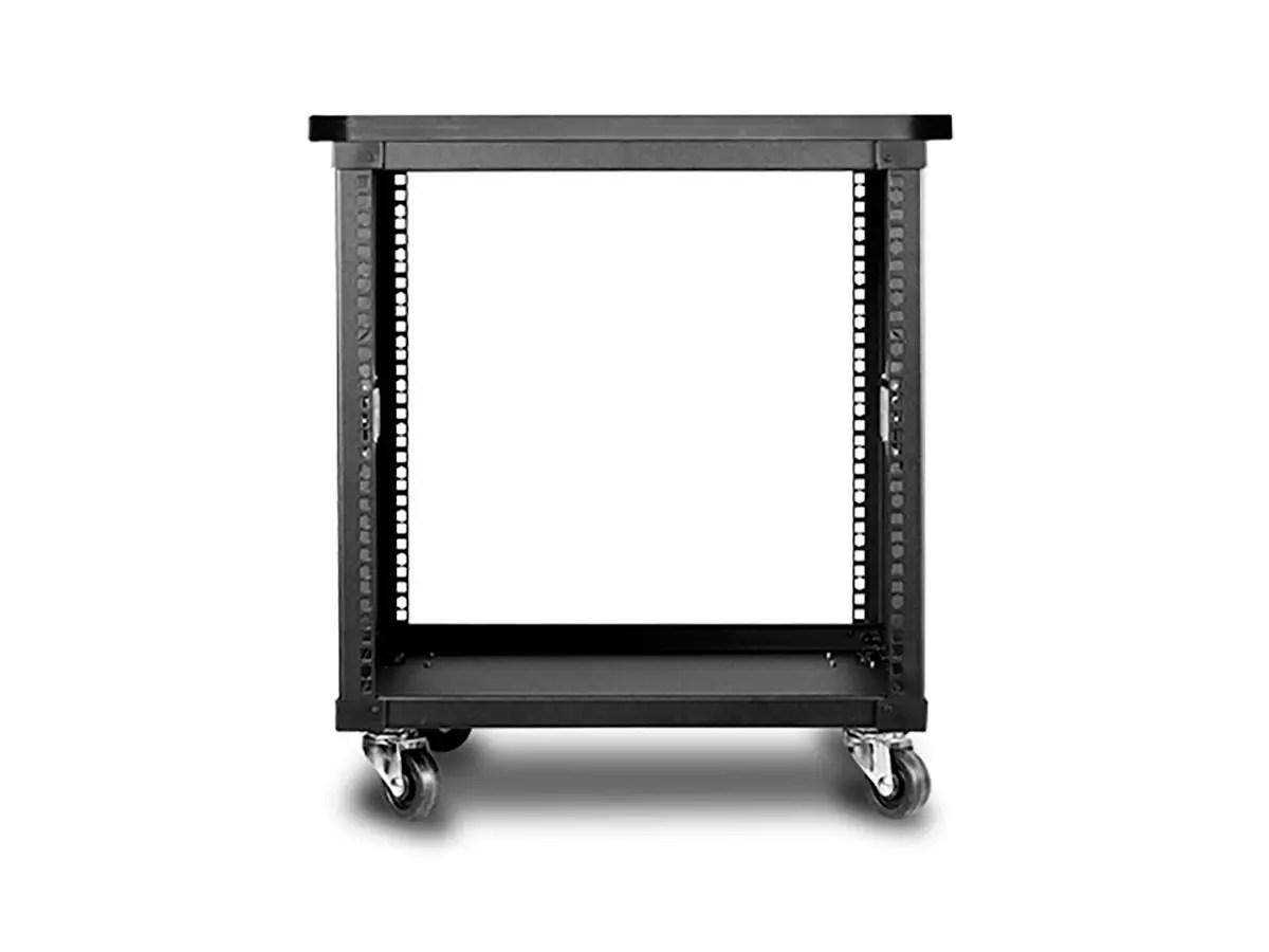 10u 450mm depth simple server rack with wood top gsa approved