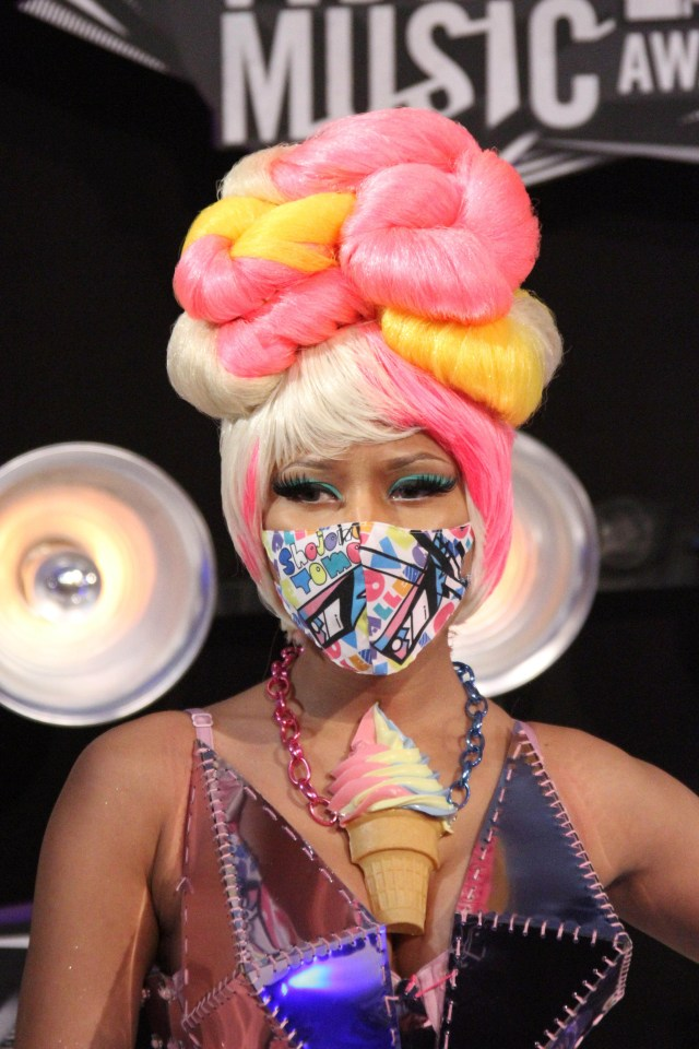 nicki minaj's hair evolution from crazy and colorful to