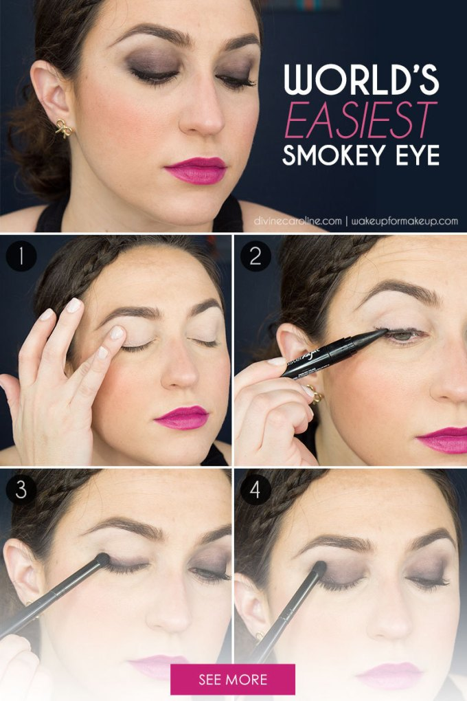 the world's easiest smokey eye tutorial (i promise) - more