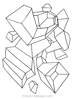 abstract coloring page # 12