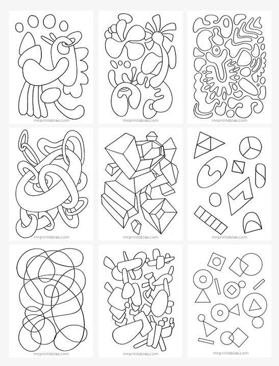 abstract coloring page # 14