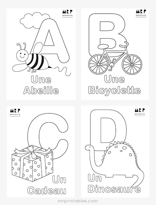 abc coloring page # 7