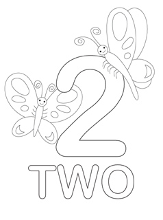 number 2 coloring page # 8