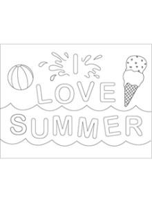 Printable Coloring Sheets Summer