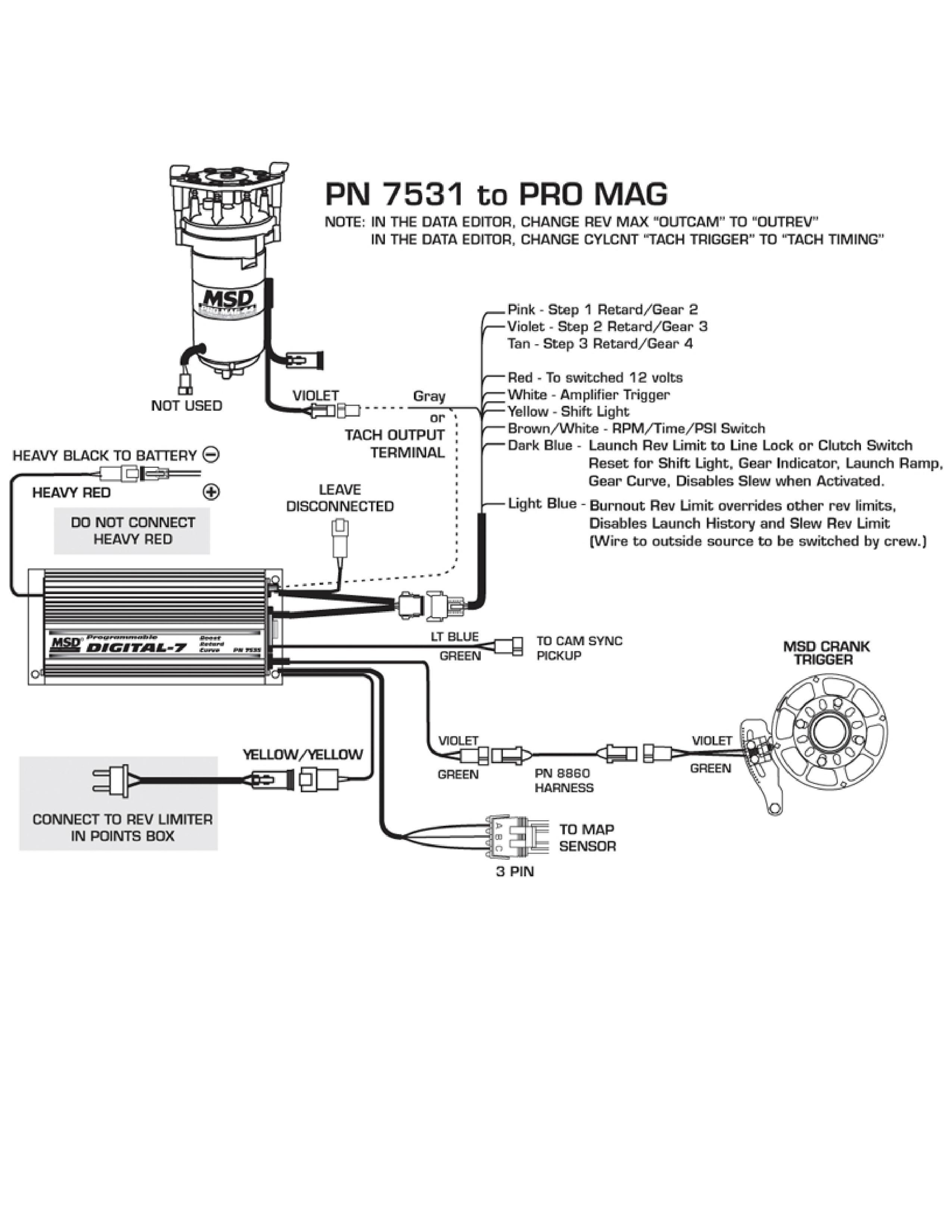 msd digital 7531 wiring diagram msd digital 7 wiring
