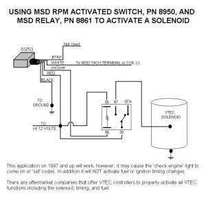 Honda Vtec Solenoid With 8950 And Relay  MSD Blog
