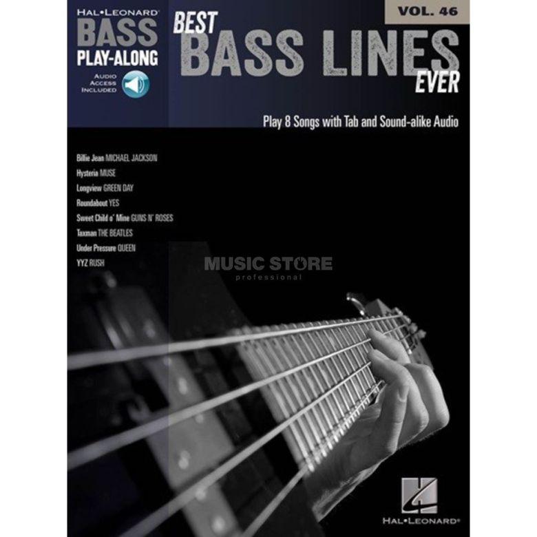 hal leonard bass play-along - best bass lines ever vol. 46, bass tab