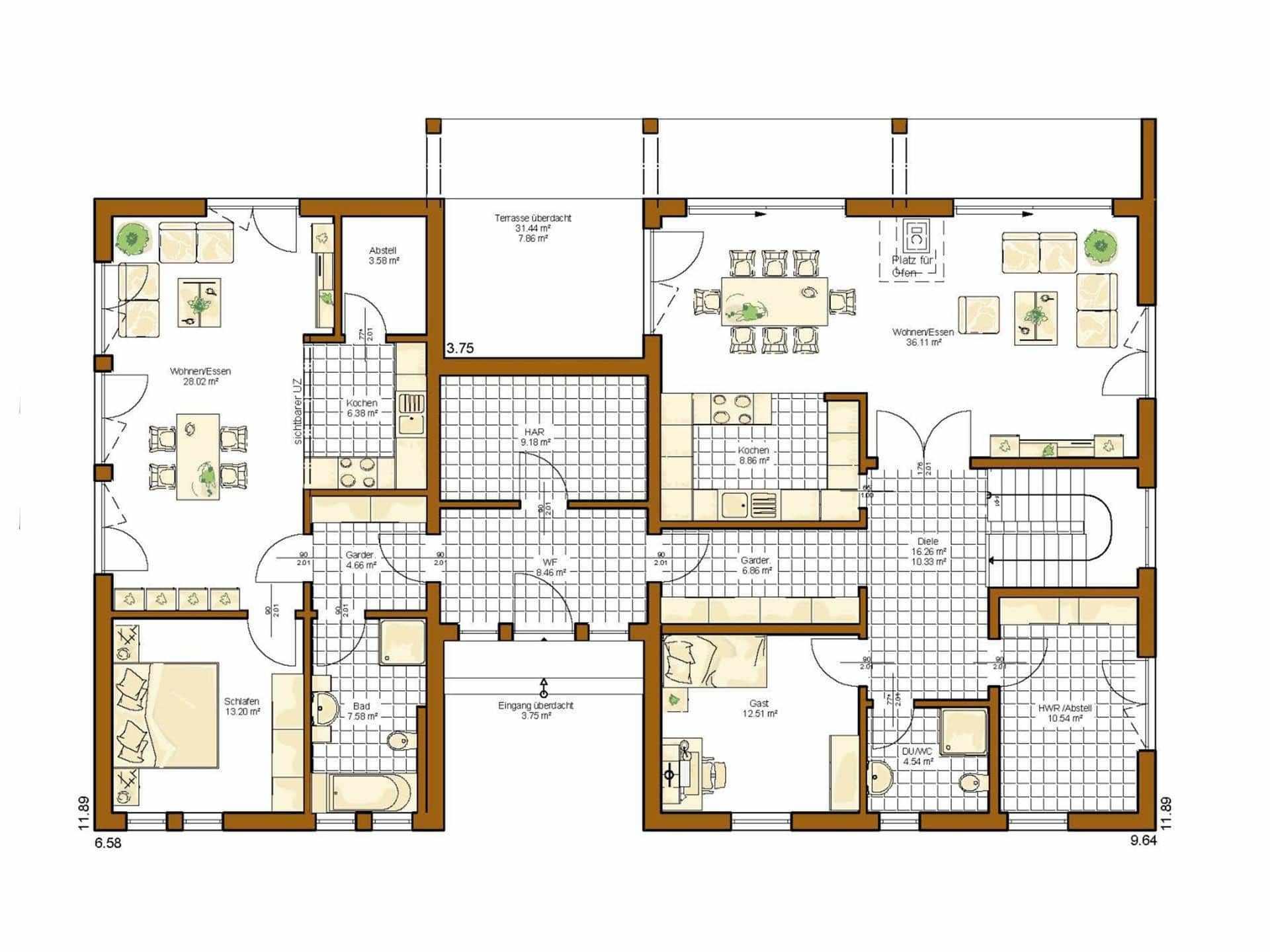 Treppenhaus Mit Aufzug Grundriss Wohn Design