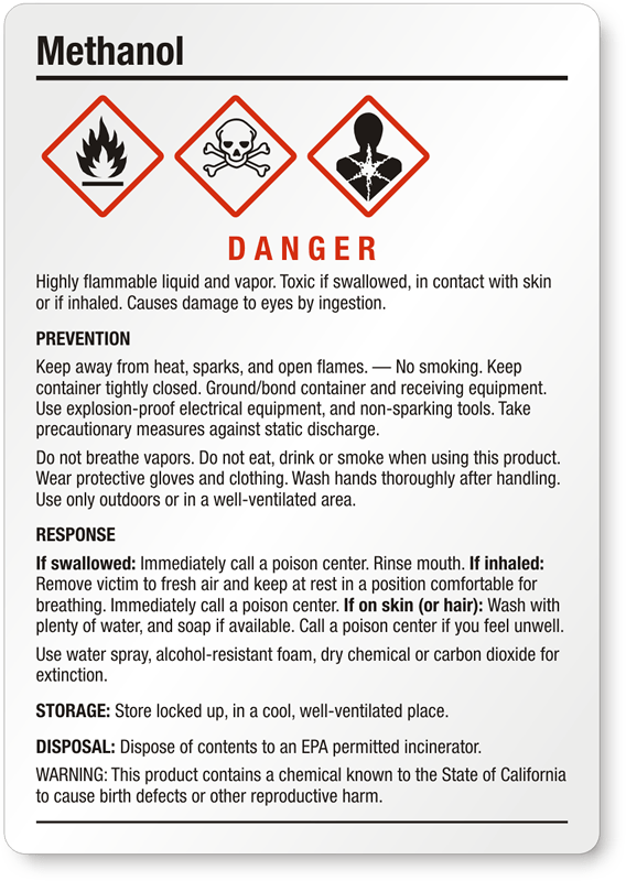 Red Black Liquid Labels And Flammable