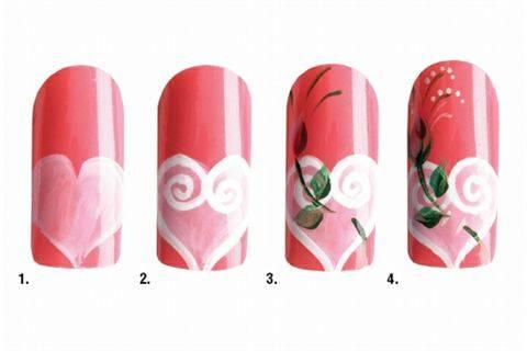 Nail Art Studio Valentine S Day Pretty In Pink