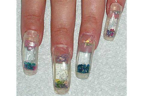 Apply The Finished Aquarium Nail To Client S Prepped Use Clear Or Colored Acrylic Seal Enhancement