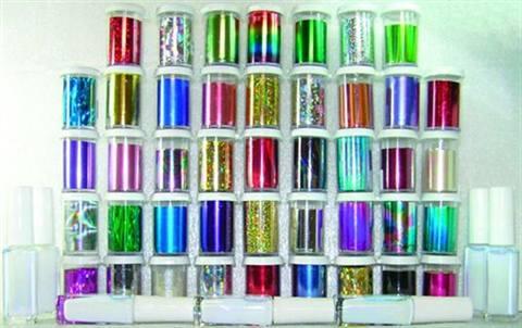 8 Color Rolls Striping Tape Line Nail Sticker Diy Kit Art Uv Gel Tips