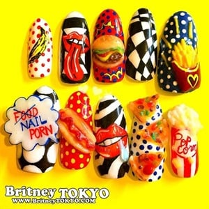 My Nail Designs Are Inspired By American Pop Art And Harajuku Fashion Most Of Filled With Lots Color