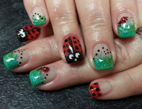 Janelle Lamont Tickled Pink Beauty Bar Williams Lake British Columbia Canada Keywords Spring Nail Art