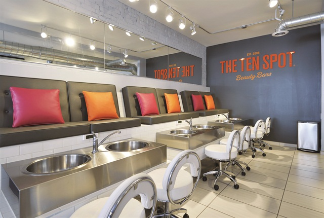 The Ten Spot S Lively Color Palette Is Meant To Give Salon A More Fun And Open Vibe
