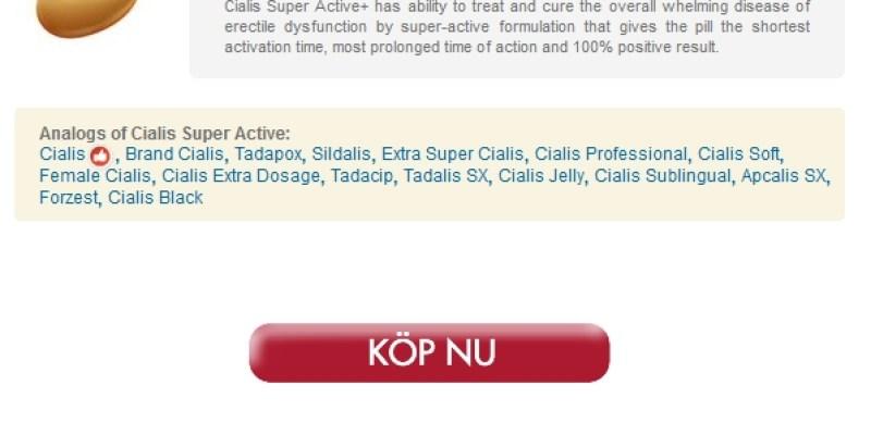 Generisk Cialis Super Active receptfritt * Ackrediterad Kanadensiska Apotek
