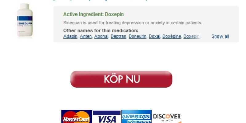 Köpa Doxepin hydrochloride 75 mg Generisk / Säker Webbplats För Att Köpa Generika / Bästa kvalitet Droger