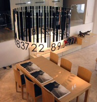 Barcode chandelier by Mobilet