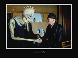 William S. Burroughs and a fan from Naked Lunch